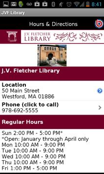 J.V. Fletcher Library screenshot 3