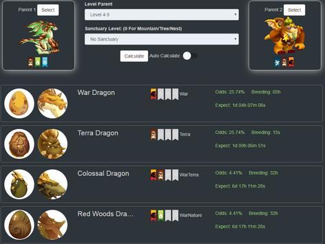 Breeding Calculator for Dragon City screenshot 2