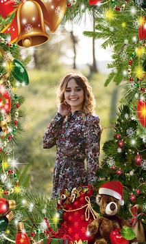 Merry Chrismas Photo Frame poster