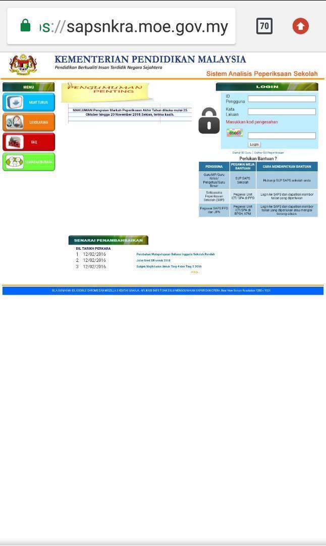 Saps Semakan Keputusan Online For Android Apk Download