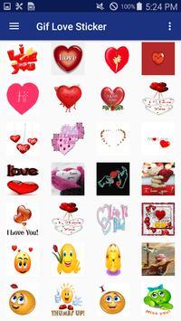 Gif Love Sticker ảnh chụp màn hình 2