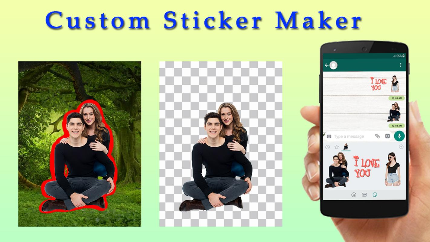 Personal stickers for whatsapp sticker maker poster