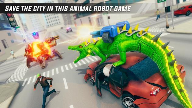 Crocodile Robot Car Simulator: War Robot Games screenshot 4