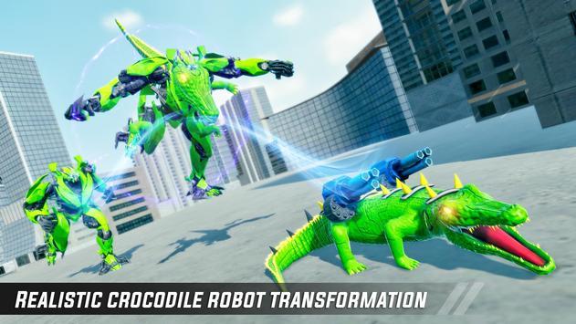 Crocodile Robot Car Simulator: War Robot Games poster