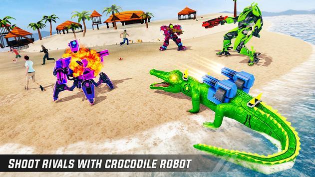 Crocodile Robot Car Simulator: War Robot Games screenshot 5