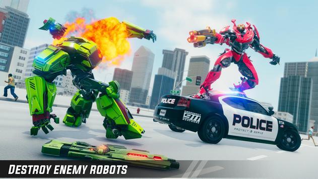 Crocodile Robot Car Simulator: War Robot Games screenshot 6