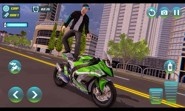 City Bike Driving Simulator-Real Motorcycle Driver screenshot 1