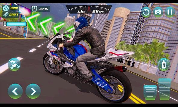 City Bike Driving Simulator-Real Motorcycle Driver screenshot 5