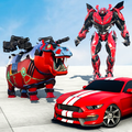 Hippo Robot Car Transform Battle-Rhino Robot Games