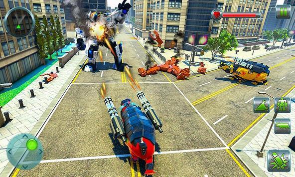 Hippo Robot Car Transform Battle-Rhino Robot Games screenshot 4
