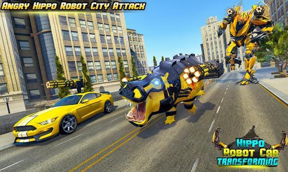 Hippo Robot Car Transform Battle-Rhino Robot Games poster