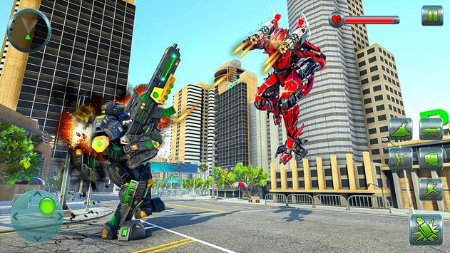 Hippo Robot Car Transform Battle-Rhino Robot Games screenshot 11