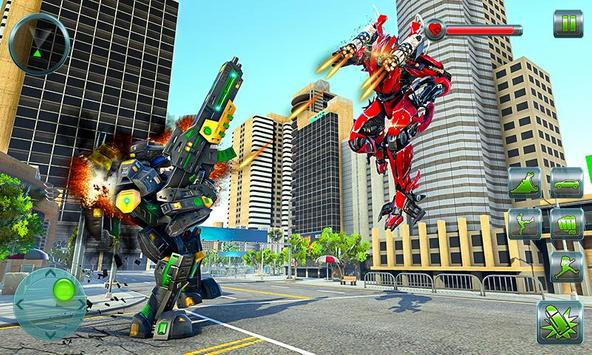 Hippo Robot Car Transform Battle-Rhino Robot Games screenshot 1