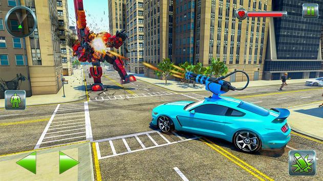 Hippo Robot Car Transform Battle-Rhino Robot Games screenshot 7