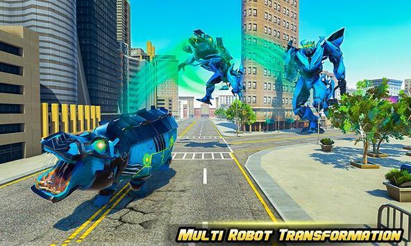 Hippo Robot Car Transform Battle-Rhino Robot Games screenshot 3