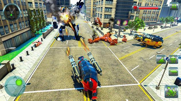 Hippo Robot Car Transform Battle-Rhino Robot Games screenshot 8