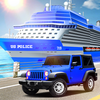 Transport Ship Police Car Game Zeichen