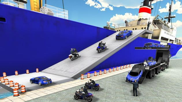 Us police car Transporter: Police Transport Game screenshot 12
