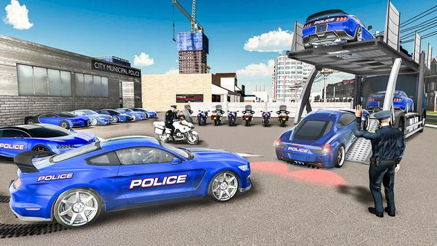 Us police car Transporter: Police Transport Game screenshot 14