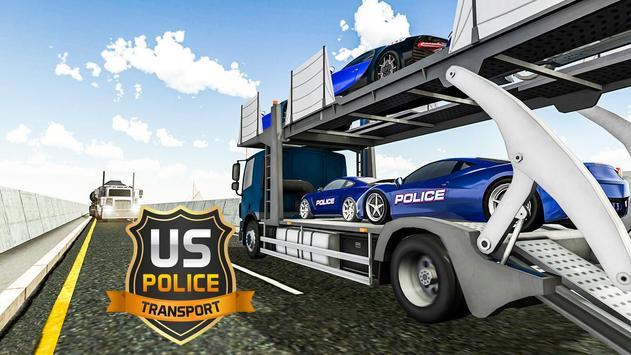 Us police car Transporter: Police Transport Game screenshot 17