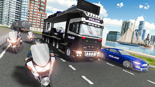 Us police car Transporter: Police Transport Game screenshot 4