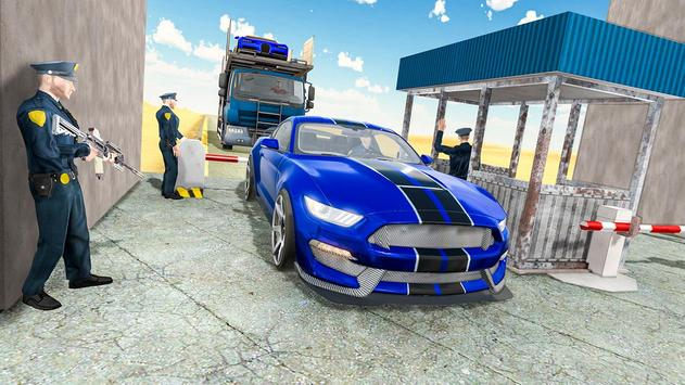 Us police car Transporter: Police Transport Game screenshot 9