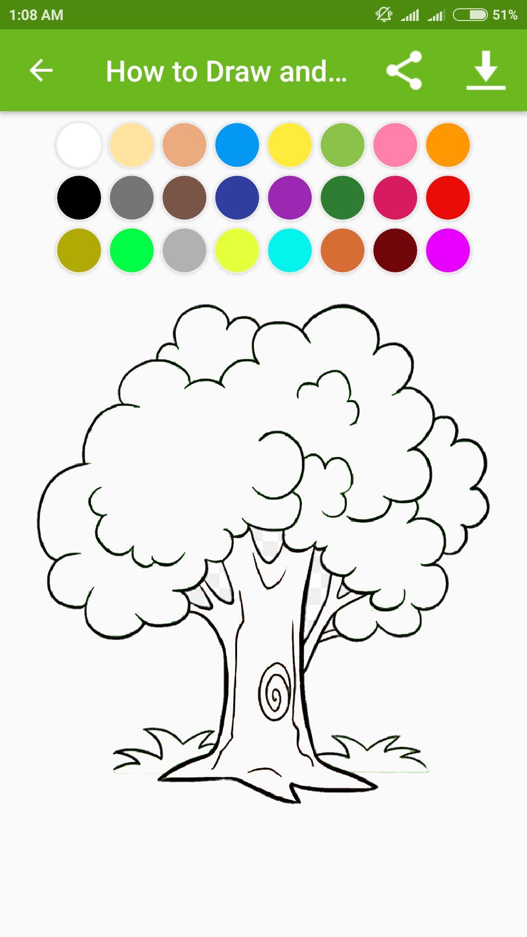 Cara Menggambar Dan Mewarnai Pohon For Android Apk Download