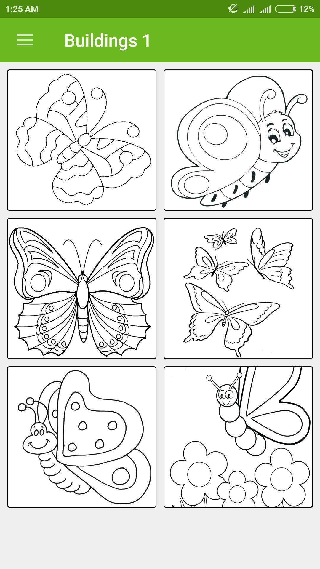 gambar bunga dan kupu kupu yang mudah