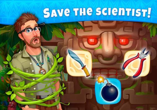 Jungle Mix Match 3 Games New Jewel in Puzzle Games capture d'écran 13