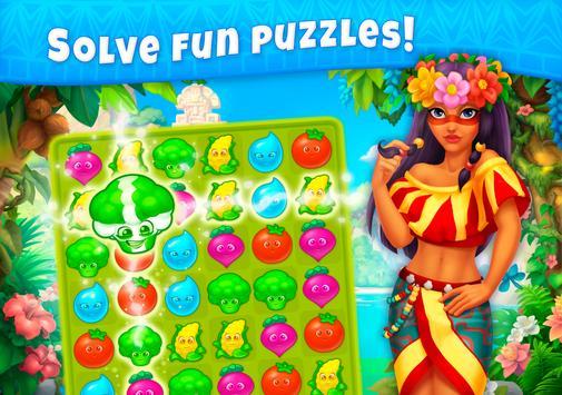 Jungle Mix Match 3 Games New Jewel in Puzzle Games capture d'écran 8