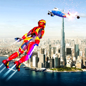 Flying Iron Superhero Spider : City Rescue Mission icon