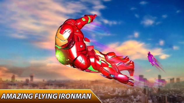 Flying Iron Superhero Spider : City Rescue Mission poster