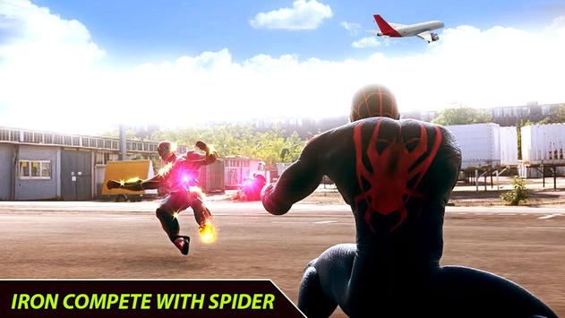 Flying Iron Superhero Spider : City Rescue Mission screenshot 2