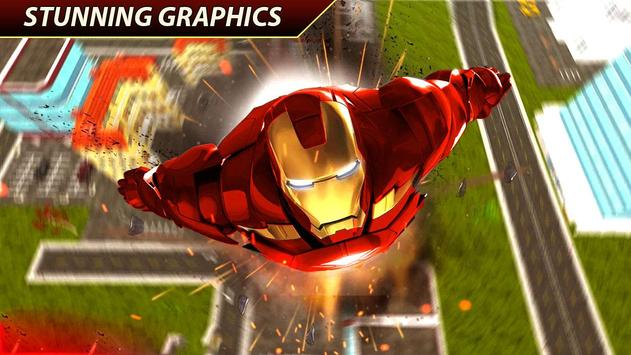 Flying Iron Superhero Spider : City Rescue Mission screenshot 4