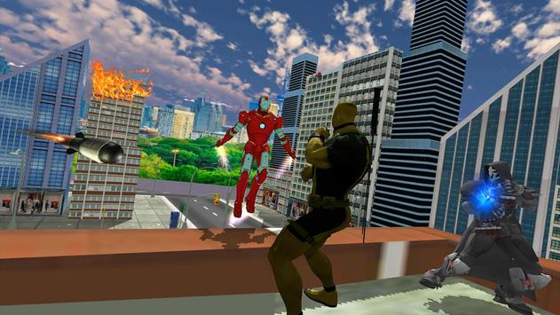 Flying Iron Superhero Spider : City Rescue Mission screenshot 5