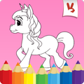Coloring games: Unicorn coloring book for kids