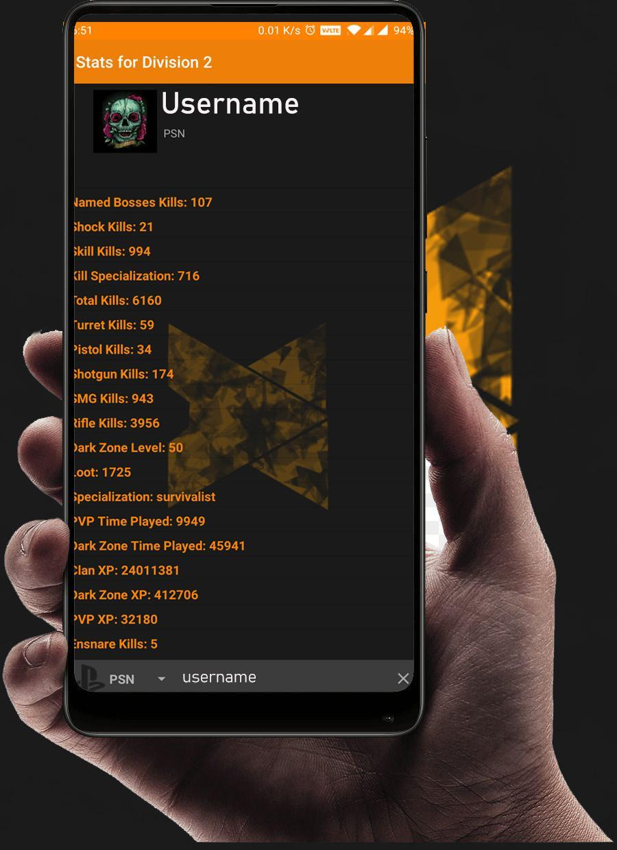 Stats for Division 2 for Android - APK Download