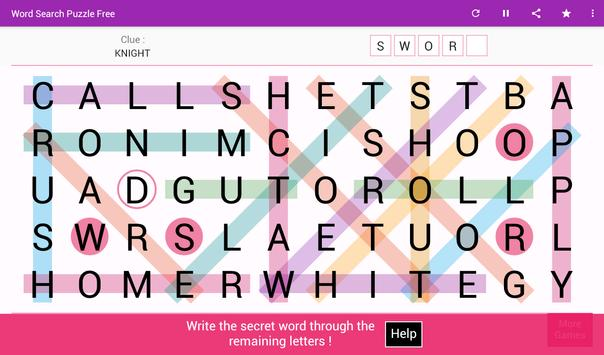 Word Search تصوير الشاشة 7