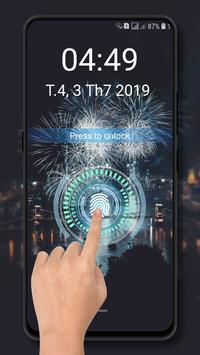 Fingerprint lockscreen simulated Prank poster