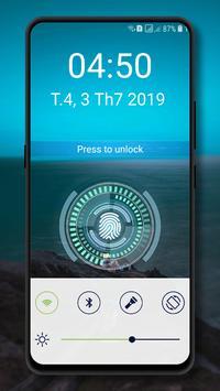 Fingerprint lockscreen simulated Prank screenshot 3