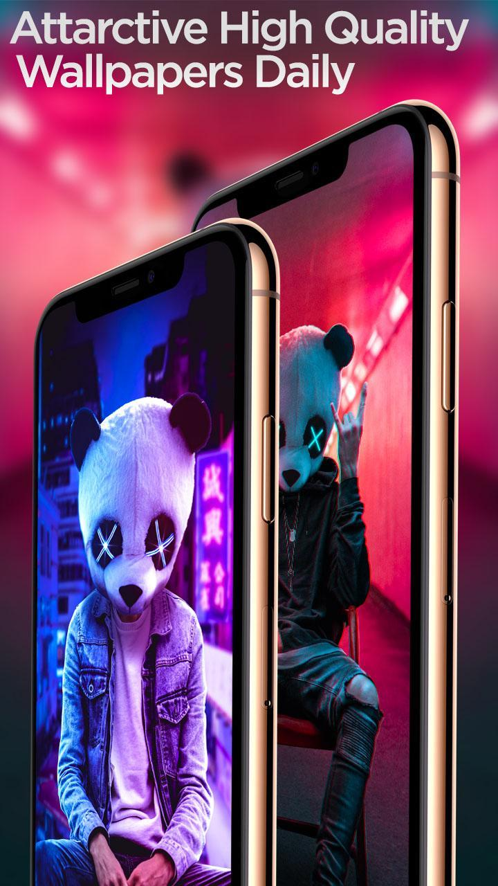 Neon Panda Boy Hd Wallpaper For Android Apk Download