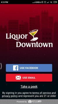 Liquor Downtown poster