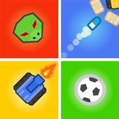 Игры на двоих троих 4 игрока - змея,танки,Футбол иконка