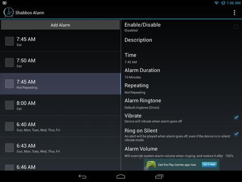 Shabbos Alarm скриншот 15