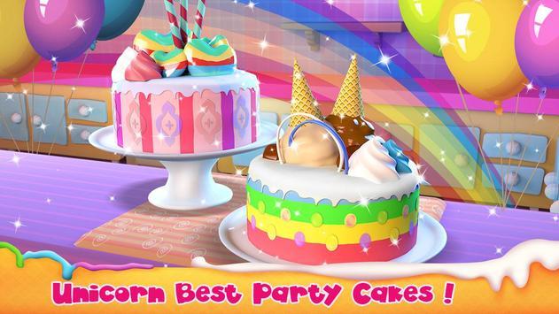 Unicorn Cake Bakery Chef : Food Maker Baking Game poster
