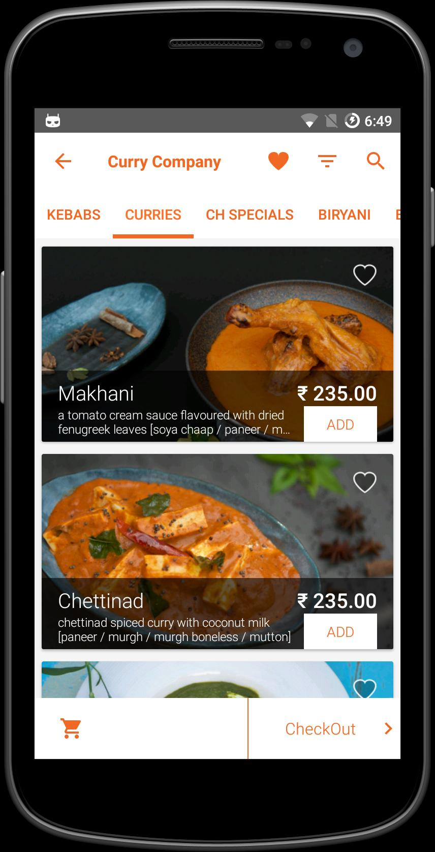 CurryCompany–Order Food Online poster