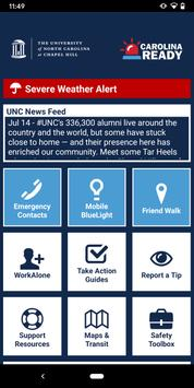 UNC Carolina Ready Safety 海報
