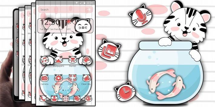 Cute Cat Koi Theme screenshot 3