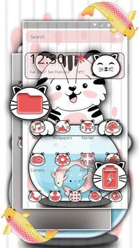 Cute Cat Koi Theme screenshot 1