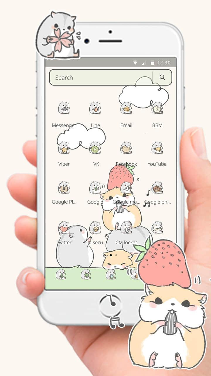 Lucu Kartun Hamster Nut Tema For Android APK Download